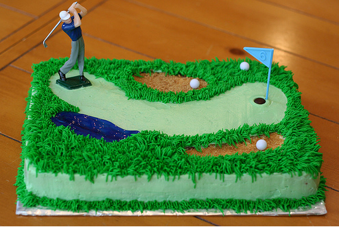How To Make A Golf Cake Topper