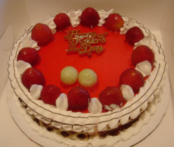 Fruits fathers day cake with bright color.PNG