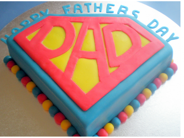 Superday fathers day cake with superman theme.PNG