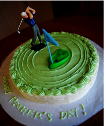 Golf theme fathers day cake with golfer cake topper.PNG
