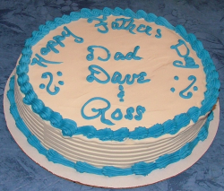 Homemade father's day cake with blue cake decor.PNG
