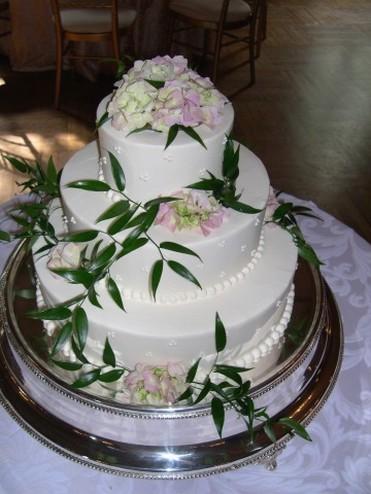 Photo Of 3 Wedding Cake W Fresh Flowers