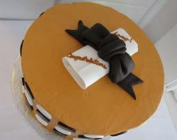 University of Texas theme graduation cake.JPG