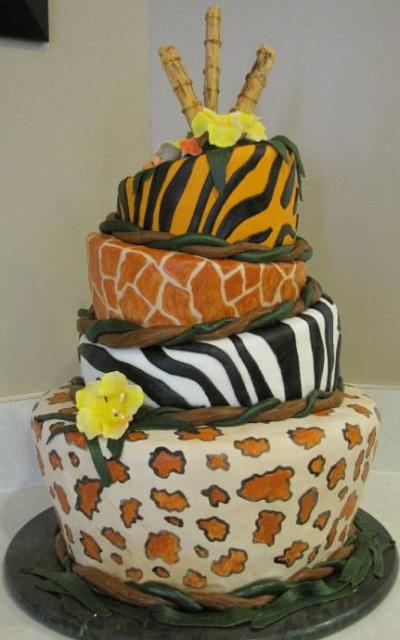 turvy animal print cake.