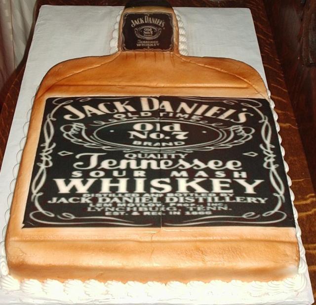 how to make a jack daniels bottle cake