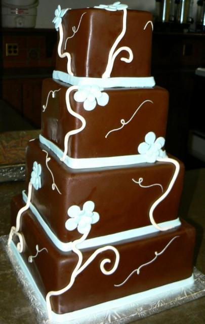 square chocolate wedding cakes four level chocolate square wedding cake jpg 20360
