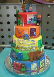 Four tier Childen's Book cake.JPG