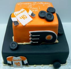 Philadelphia Flyers 2 tier birthday cake.JPG