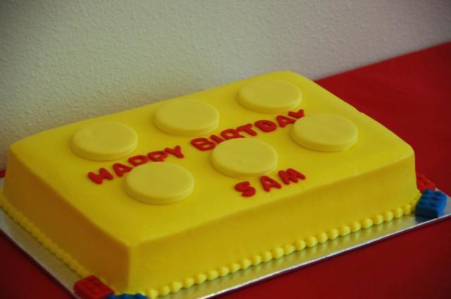 cool bright yellow birthday cake.jpg Hi-Res 720p HD