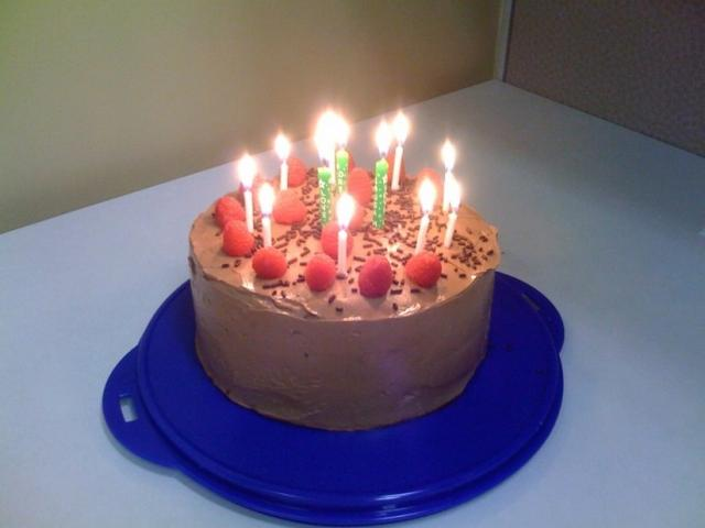 chocolate happy birthday cake with candles.jpg