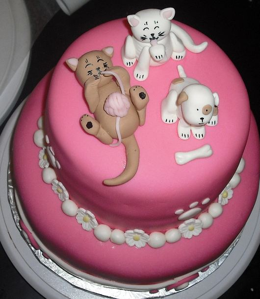 Kittens Birthday Cake Kittens And Puppy Cake.jpg