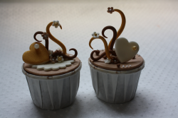 Swan and hearts cupcakes in chocolate.PNG