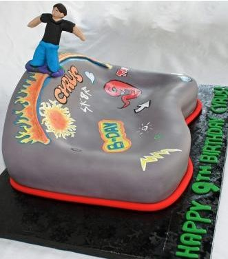 Awesome Skateboard Park Birthday Cake Jpg Funny Birthday Cards Online Elaedamsfinfo