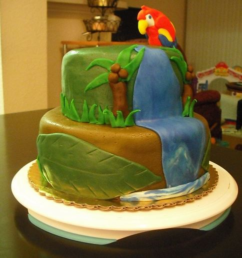 http://www.cakepicturegallery.com/d/28876-1/Two+tier+trophical+theme+cake+with+parrot.JPG
