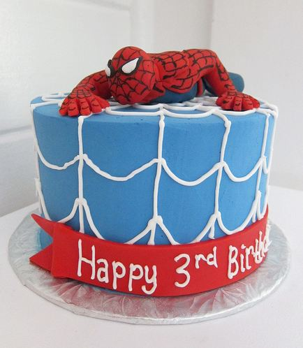 Spiderman Birthday Cake on Crawling Spiderman Theme Birthday Cake For 3 Year Old Jpg