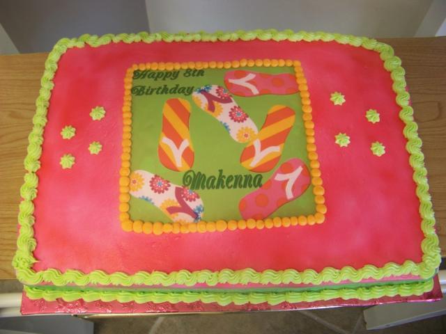 Astonishing Flip Flop Birthday Cake Colorful Cake Hi Res 720P Hd Birthday Cards Printable Inklcafe Filternl