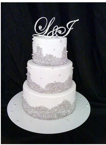 Crystal Wedding Cake With Crystal Toppers Png