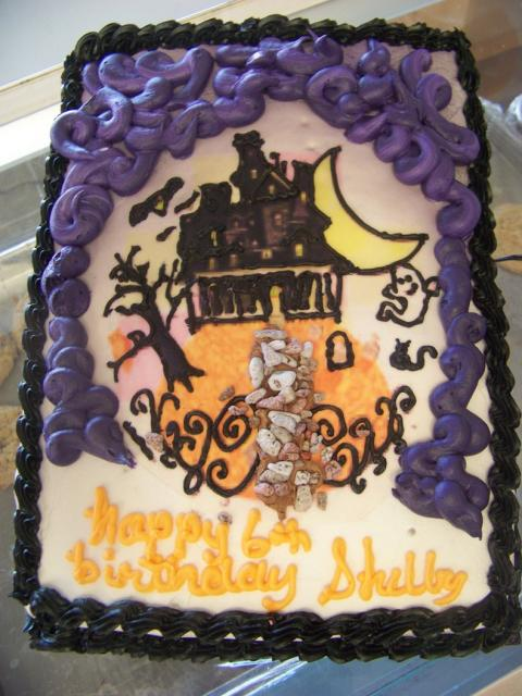 Incredible Haunted House Birthday Cake Picture Hi Res 720P Hd Personalised Birthday Cards Epsylily Jamesorg