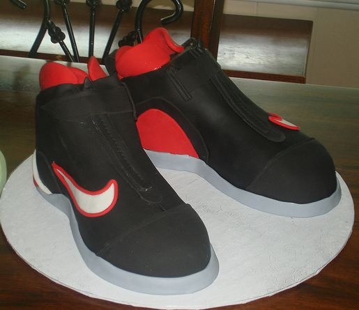Black And Red Nike Basketball Shoes Cake Jpg 1 Comment