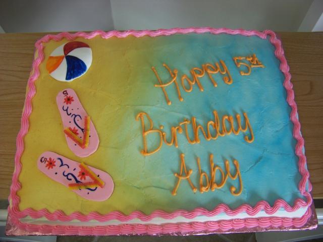 Cool Photo Of Beach Ball And Flip Flops Birthday Cake Hi Res 720P Hd Birthday Cards Printable Benkemecafe Filternl