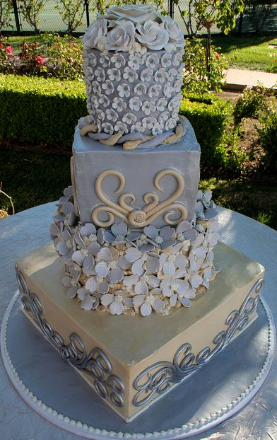 Four tier lavender and...