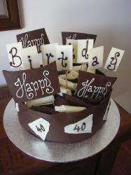 40th dark whtie chocolate Birthday cake.jpg