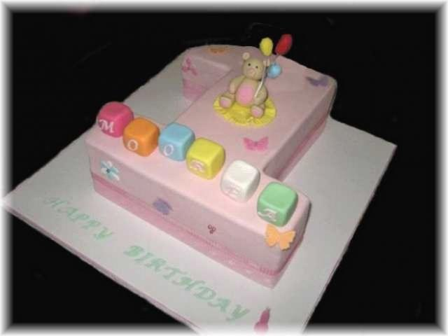 Birthday Cake Design For 1 Year Old Baby Girl : baby girl 1st birthday cake.jpg