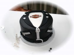 Groom Harley Jacket cake.jpg