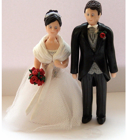 Wedding Cake Bride  Groom Toppers on Fimo Bride And Groom Wedding Cake Toppers Png