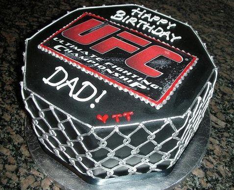 Ufc Theme Ring Birthday Cake Jpg 1 Comment