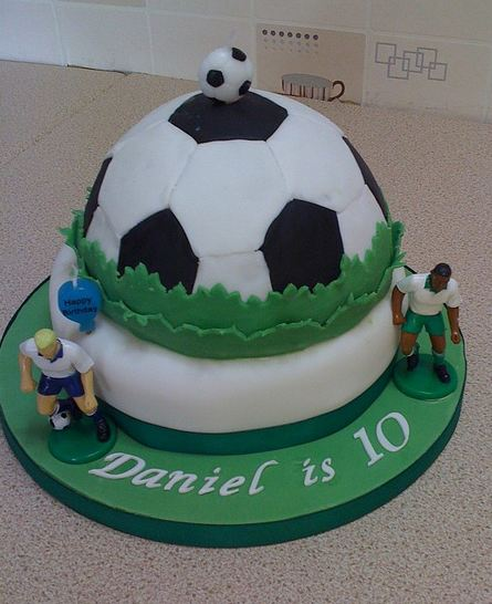Soccer Theme 10th Birthday CakeJPG