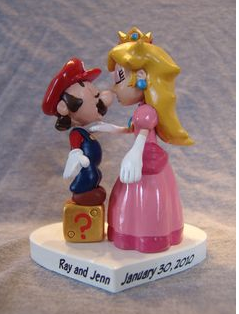 Super Mario And Princess Peach Cake TopperPNG 3 Comments