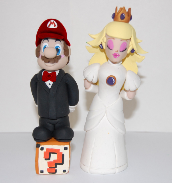 Super Mario And Princess Peach Cake ToppersPNG Hi Res 720p HD