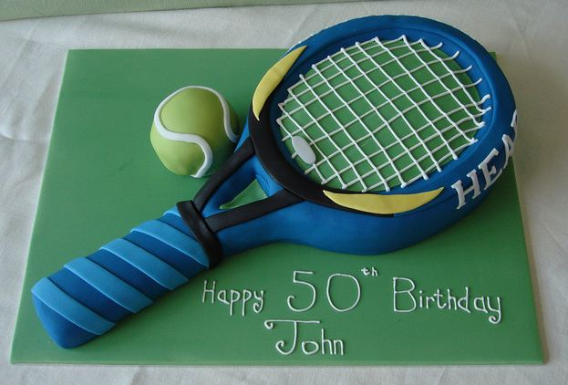 Super Tennis Racquet And Ball 50Th Birthday Cake Jpg 1 Comment Personalised Birthday Cards Veneteletsinfo