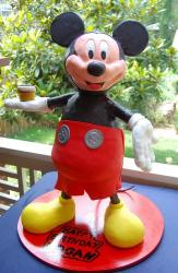 Micky Mouse sculpture cake.JPG