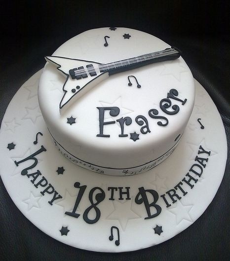 White Electric Guitar Birthday Cake Jpg 1 Comment