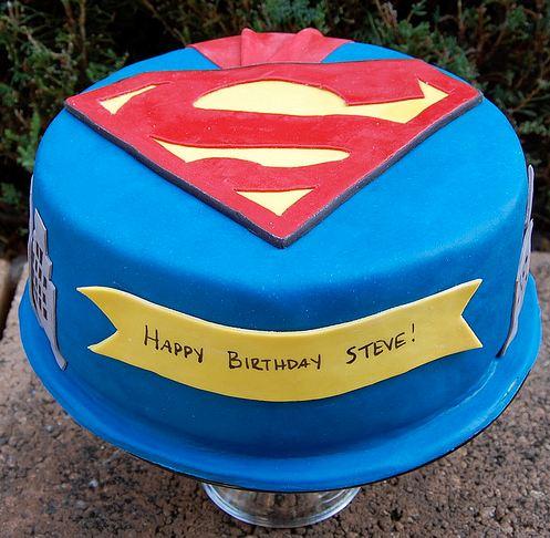 Superman Theme Birthday Cake