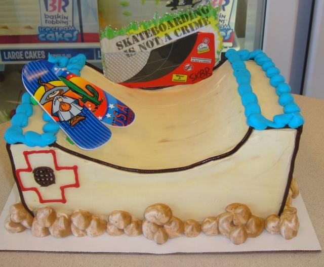 Amazing Skateboard Ramp Theme Birthday Cake Jpg Funny Birthday Cards Online Elaedamsfinfo