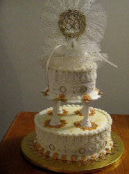 Classic 50th wedding anniversary cake topper image.PNG