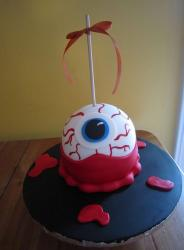 Eyeball on a stick Halloween cake.JPG