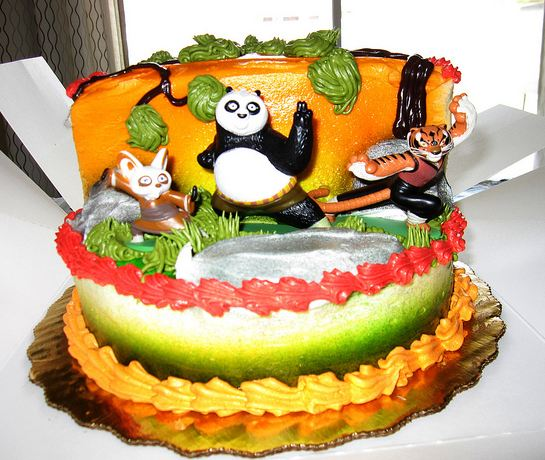 Amazing Two Tier Kung Fu Panda Birthday Cake Jpg 1 Comment Funny Birthday Cards Online Elaedamsfinfo