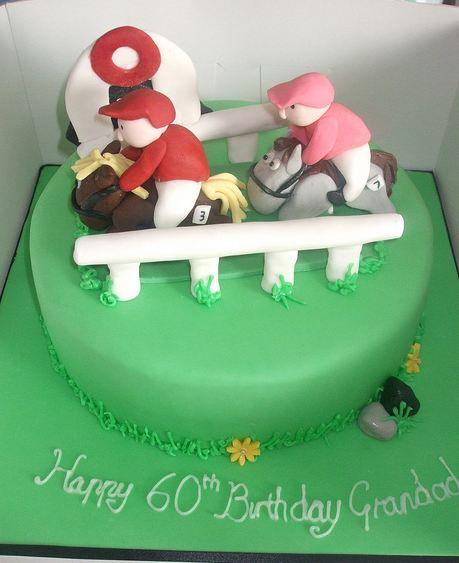 Horse Racing Theme 60th Birthday Cake Jpg 1 Comment