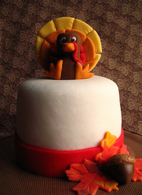 Chic Thanksgiving cake with full of colors.PNG