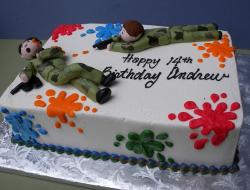 Paint ball battle birthday cake.JPG
