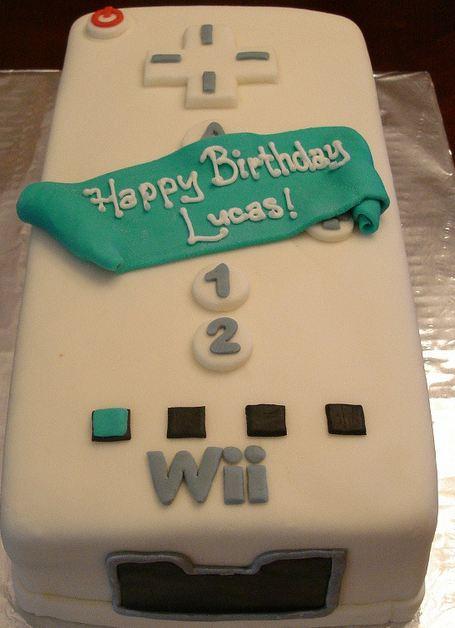 Awe Inspiring Nintendo Wiimote Controller Birthday Cake Jpg Personalised Birthday Cards Veneteletsinfo