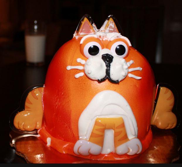Birthday Orange Cat: Orange Cat Cake.JPG
