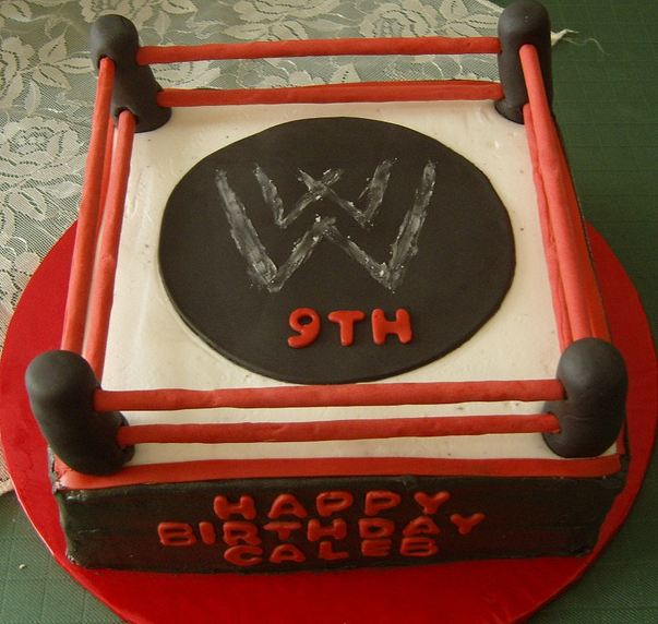 Birthday Cake Pics For 19 Year Old Boy : WWE wrestling ring birthday cake for 9-year-old.JPG