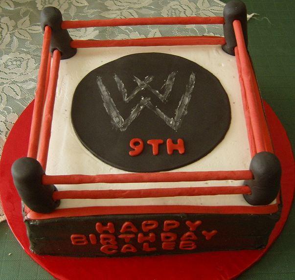 Wwe Wrestling Ring Birthday Cake For 9 Year Old Jpg