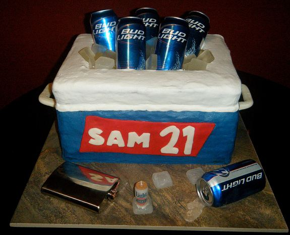 Cooler Cake With Beer Cans For 21st Birthday Jpg 1 Comment