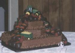 Chocolate groom's cake with cars.jpg